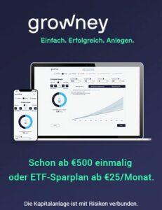 Mit Growney in ETFs investieren