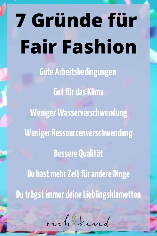 7 Gründe für faire Mode
