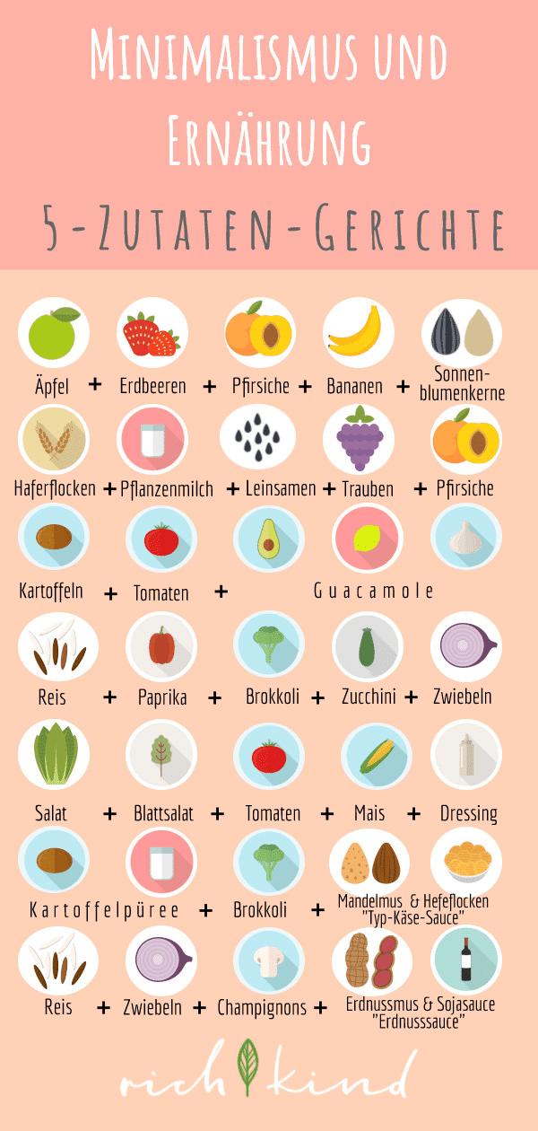 mit wenigen Zutaten minimalistisch essen